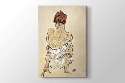 Zittende Vrouw on the Rug görseli.