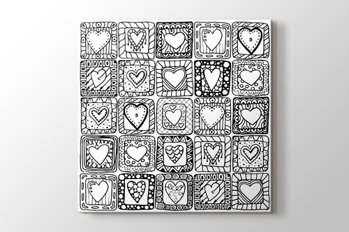 Kutu kalpler boyama tablo görseli.