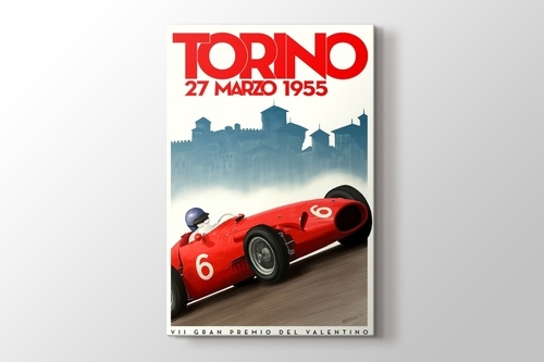 1955 Torino Formula 1 Vintage Posteri görseli.
