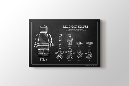 Lego Toy Figure Patent görseli.