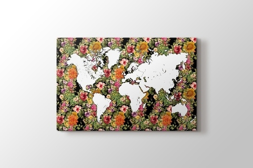 World Map Floral görseli.