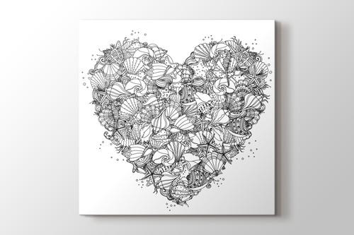 Kalpli boyama tablo görseli.
