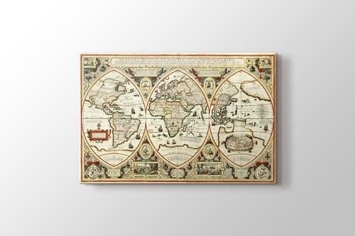 Eski Dünya Haritası görseli.