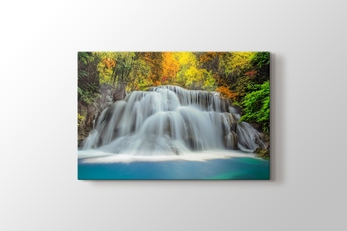 Huay Mae Kamin Waterfall Thailand görseli.