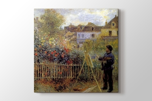 Monet Painting in His Garden görseli.