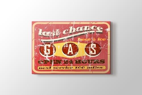 Vintage Benzin İstasyonu görseli.