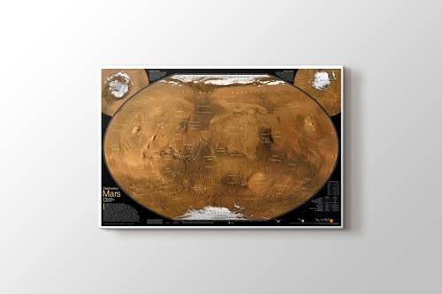 Mars Yüzey Haritası görseli.