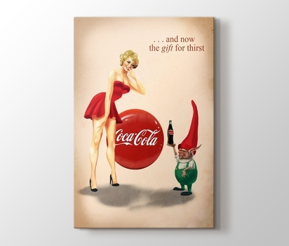Coca Cola The Gift For Thirst Reklam Afişleri Kanvas Tablo Burada