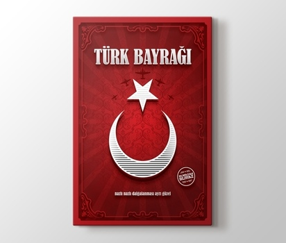 Türk Bayrağı Olmazsa Olmaz Kanvas Tablo Burada Pluscanvas