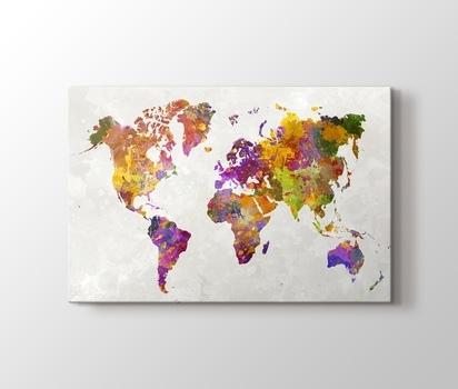 Watercolor World Sulu Boya Reprodüksiyon Kanvas Tablo Burada