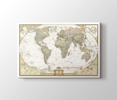 Dünya Siyasi Haritası 2012 Kanvas Tablo Burada Pluscanvas