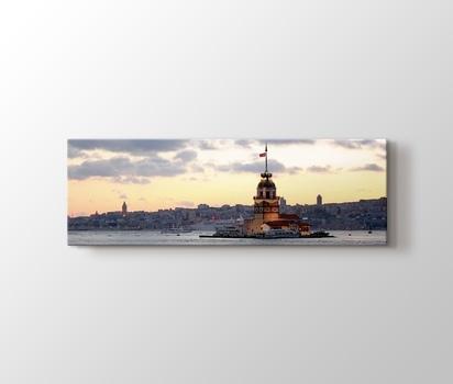 Kız Kulesi Ve Istanbul Silüeti Kanvas Tablo Burada Pluscanvas