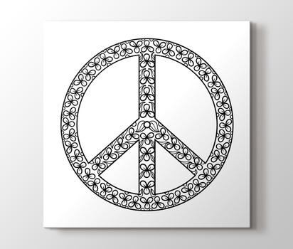 Barış Sembolü Boyama Tablo Burada Pluscanvas