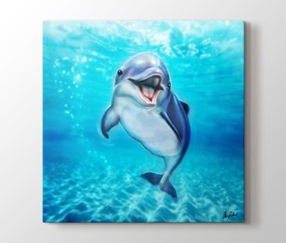 Küçük Yunus Balığı Artofokan Kanvas Tablo Burada Pluscanvas