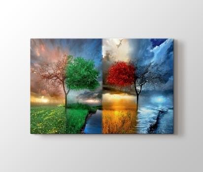 Zazzle 4 Mevsim Sonbahar Ve Kış Kanvas Tablo Burada Pluscanvas