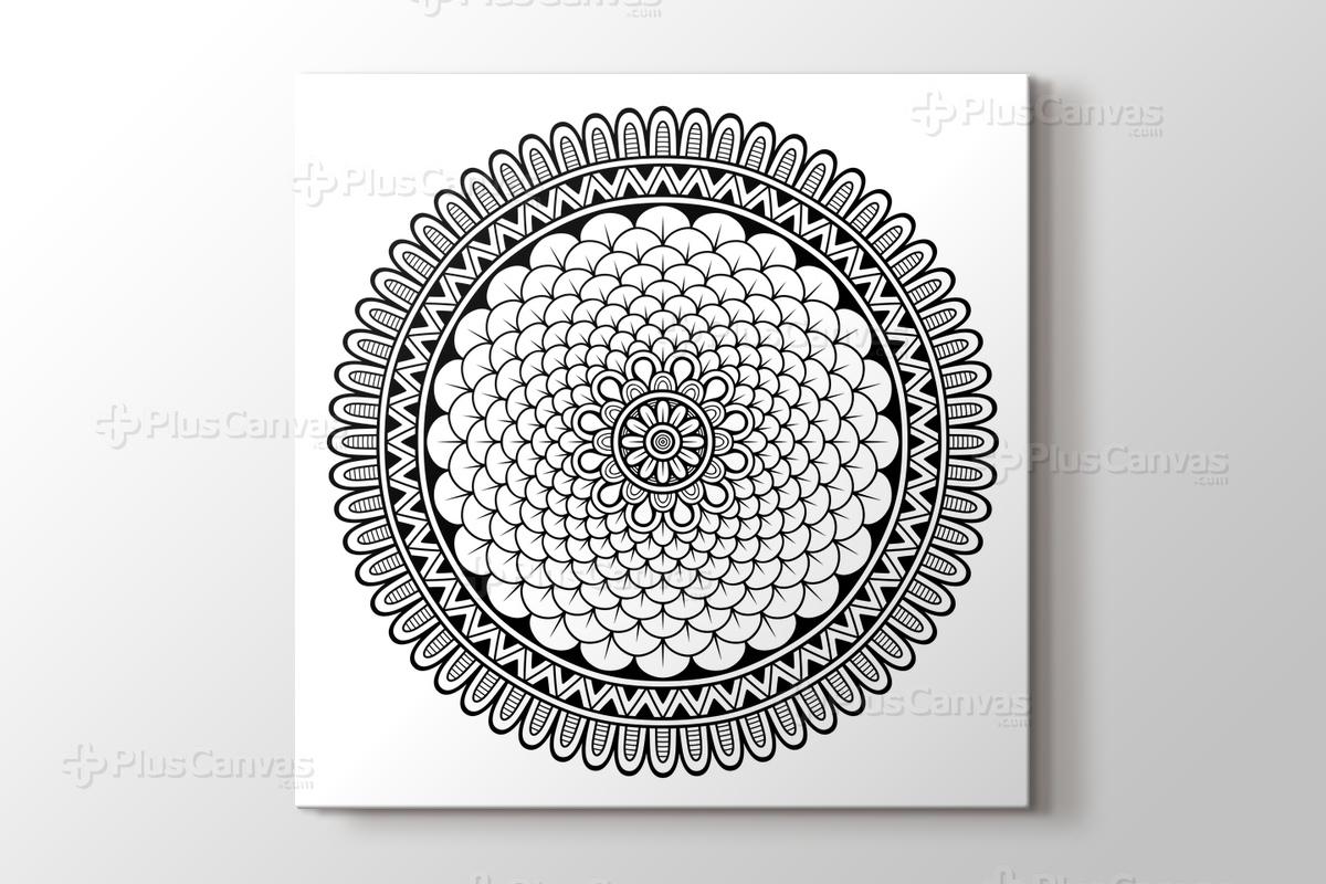 Radyal Desenli Mandala Tablo Burada Pluscanvas