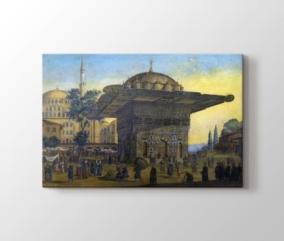 Tophane çeşmesi Istanbul Antoine Ignace Melling Kanvas Tablo Burada