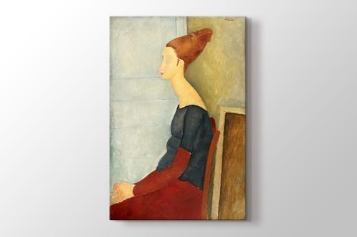 Amedeo Modigliani - Portrait de Jeanne Hebuterne görseli.