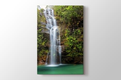 Santa Bárbara Waterfall at Alto Paraíso Brazil görseli.