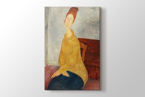 Jeanne Hebuterne with Yellow Sweater görseli.