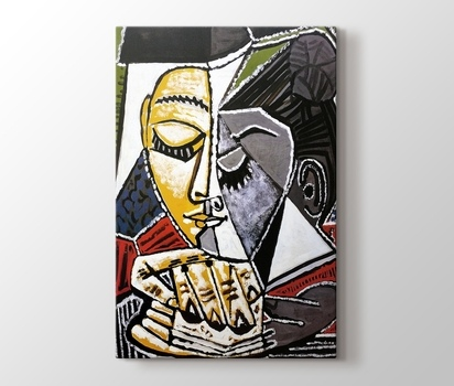 Tete Dune Femme Lisant Pablo Picasso Kanvas Tablo Burada Pluscanvas