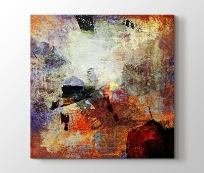 Soyut Yağlı Boya Kanvas Tablo Burada Pluscanvas