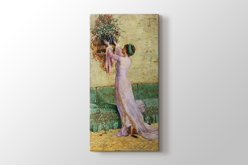 Vazo Yerleştiren Kız görseli.