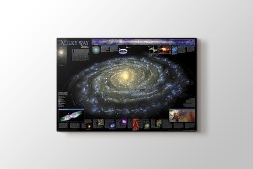 Samanyolu galaksisi görseli.
