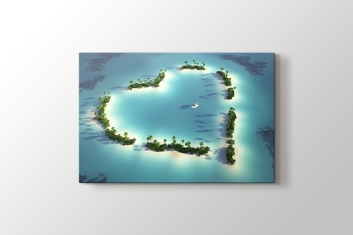 Kalp Şeklinde Ada görseli.