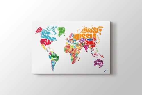 World Map Typography görseli.