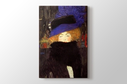 Lady with Hat and Feather Boa görseli.