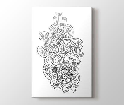 Soyut Desenli Mandala Tablo Burada Pluscanvas