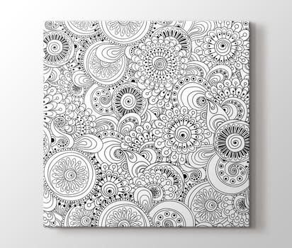 Floral Mandala Tablo Burada Pluscanvas