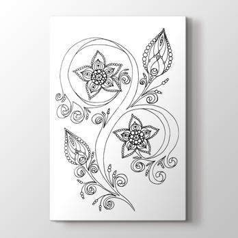 Floral Boyama Tablo Burada Pluscanvas
