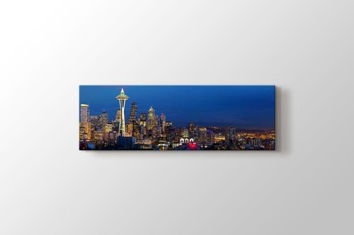 Seattle Needle Sears Tower at Sunset görseli.