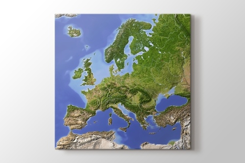 Avrupa Fiziki Harita görseli.