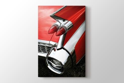Kırmızı Cadillac görseli.