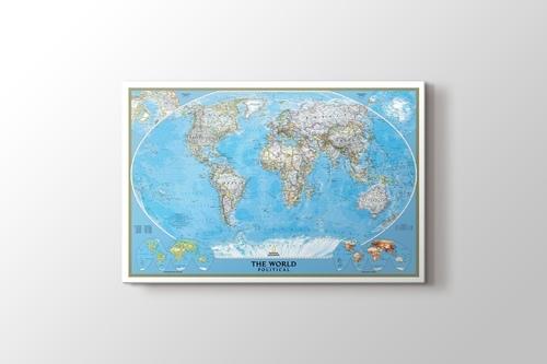 Siyasi Dünya Haritası görseli.