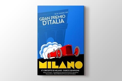 1937 Milano Formula 1 Posteri görseli.