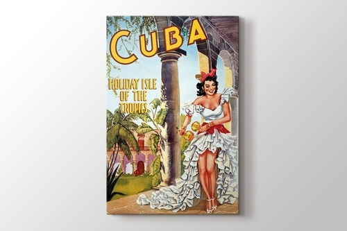 Küba Vintage Posteri görseli.