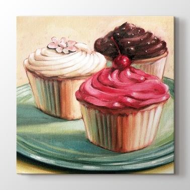 Cupcake Ve Macaron Yiyecek Ve Icecek Kanvas Tablo Kanvas Tablo