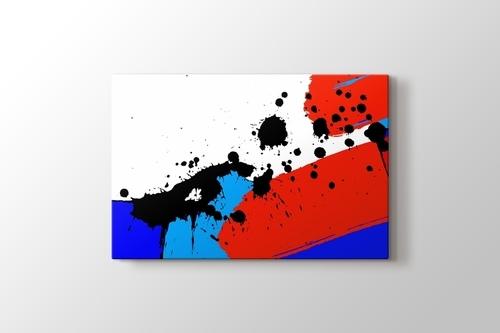 Siyah, Kırmızı ve Mavi Lekeler görseli.