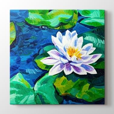 Nilufer Cicek Ve Floral Desenli Kanvas Tablolar Kanvas Tablo