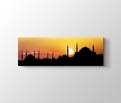 Aya Sofya Ve Sultan Ahmet Gunbatimi Istanbul Kanvas Tablo Burada