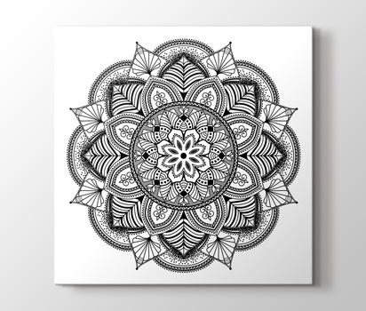 Cicek Desenli Mandala Tablo Burada Pluscanvas