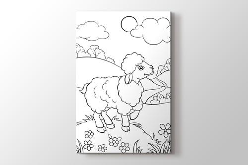 Kuzulu boyama tablo görseli.