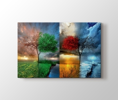 Zazzle 4 Mevsim Sonbahar Ve Kis Kanvas Tablo Burada Pluscanvas