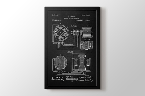 Tesla Electro Magnetic Motor Patent görseli.