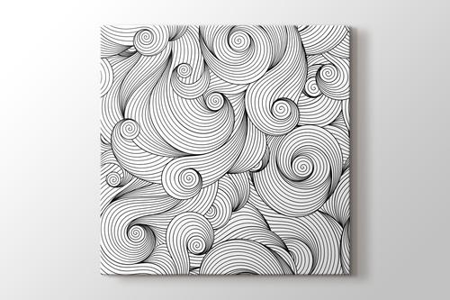 Spiraller boyama tablo görseli.