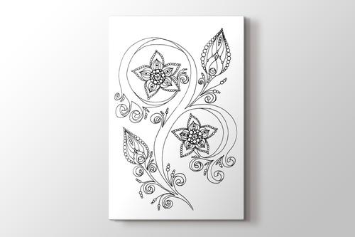 Yıldız çiçeği boyama tablo görseli.